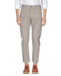 Officina 36 - Natural Casual Pants for Men - Lyst