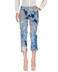 Jeckerson | Blue Casual Trouser | Lyst