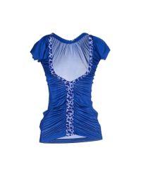 Just Cavalli - Blue T-shirt - Lyst