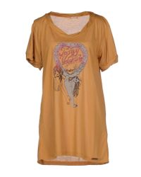 John Galliano - Natural T-shirt - Lyst
