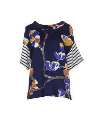 Erika Cavallini Semi Couture - Blue Sweatshirts - Lyst