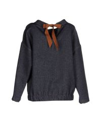Erika Cavallini Semi Couture - Black Sweatshirt - Lyst