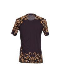 Dolce & Gabbana - Black Silk Chiffon Lace Print Blouse - Lyst