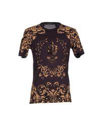 Dolce & Gabbana | Black Silk Chiffon Lace Print Blouse | Lyst