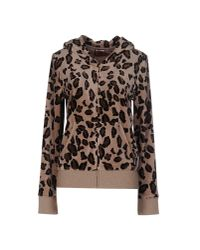 Juicy Couture - Natural Leopard Print Velour Hooded Top - Lyst
