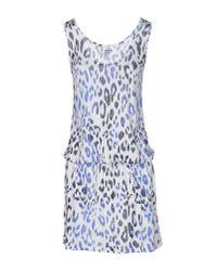 Majestic Filatures - Blue Short Dress - Lyst