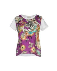 Etro - Purple T-shirt - Lyst