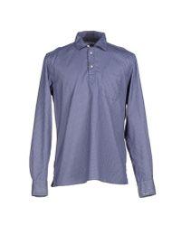 Philippe Model - Blue Shirt for Men - Lyst