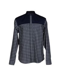 Armani | Blue Shirt for Men | Lyst