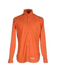 Drumohr - Orange Shirts for Men - Lyst