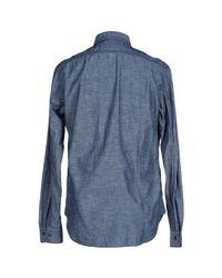Replay - Blue Shirt for Men - Lyst