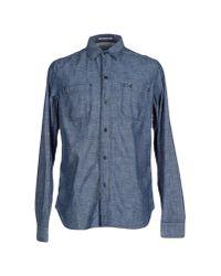 Replay | Blue Shirt for Men | Lyst