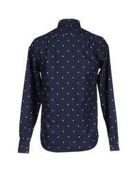 WOOD WOOD - Blue Shirt for Men - Lyst