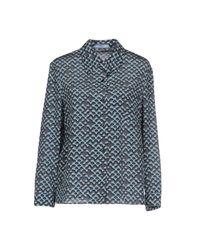 Prada | Blue Shirt | Lyst