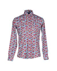 Grey Daniele Alessandrini | Purple Shirt for Men | Lyst
