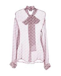 Au Jour Le Jour - Purple Shirt - Lyst