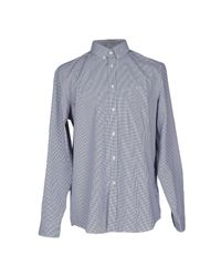 Lacoste | Blue Mini-check Long Sleeved Shirt for Men | Lyst