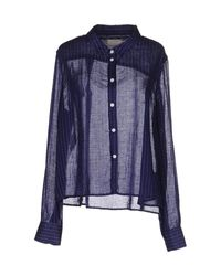 Band of Outsiders | Blue Shirt | Lyst