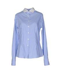 Barba Napoli - Blue Shirt - Lyst