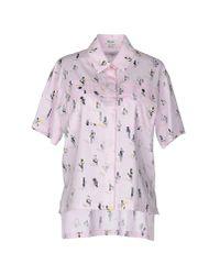KENZO - Pink Shirt - Lyst