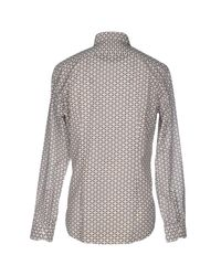 Fendi | Gray Shirt for Men | Lyst