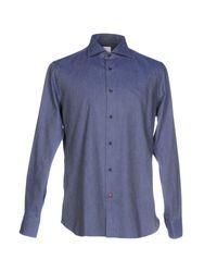 Carrel | Blue Shirt for Men | Lyst