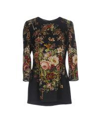 Dolce & Gabbana | Black Blouse | Lyst