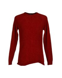 Roberto Collina - Red Jumper for Men - Lyst