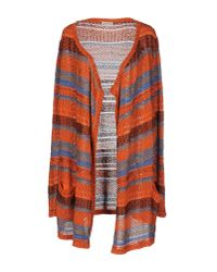 Etro | Orange Red Multicolor Flower Print Silk Pullover | Lyst