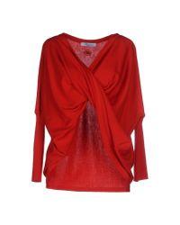 Blumarine - Red Sweater - Lyst