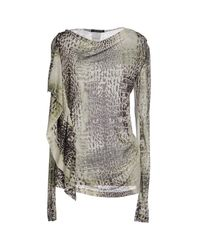 Plein Sud Jeanius - Gray Sweater - Lyst