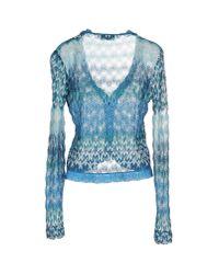 Missoni - Blue Crochet-knit Cardigan - Lyst