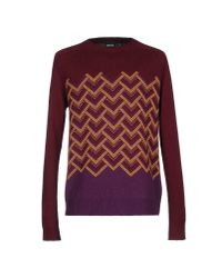Just Cavalli - Purple Sweater - Lyst