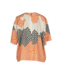 MSGM - Orange Blouse - Lyst