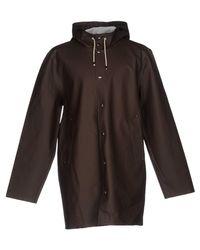Stutterheim | Brown Overcoat for Men | Lyst