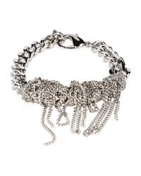MM6 by Maison Martin Margiela - Metallic Bracelet - Lyst