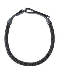 Brunello Cucinelli - Black Necklace - Lyst
