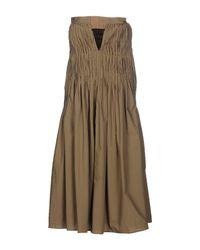 Hache - Green Knee-length Dress - Lyst
