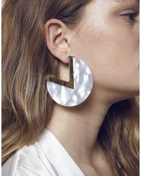 Maria Francesca Pepe - White Earrings - Lyst
