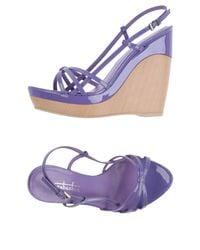 Sebastian - Purple Sandals - Lyst