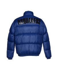 DSquared² - Blue Down Jacket for Men - Lyst