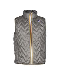 K-Way | Gray Down Jacket for Men | Lyst
