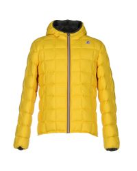 K-Way - Yellow Down Jacket for Men - Lyst
