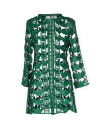 Caban Romantic - Green Overcoat - Lyst