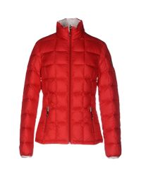 EA7 | Red Down Jacket | Lyst