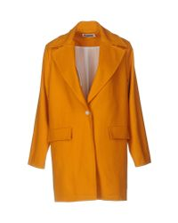 Etienne Deroeux | Orange Overcoat | Lyst