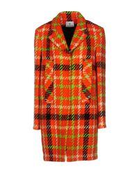 Piu & Piu - Orange Coat - Lyst