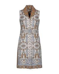 Tory Burch | Blue Jacquard Sleeveless Coat | Lyst