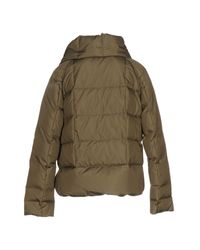 Henry Cotton's - Green Down Jacket - Lyst