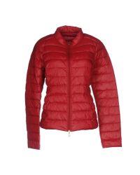 Patrizia Pepe | Red Down Jacket | Lyst